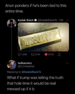 Read more about the article Trump got Kodak Black wondering if the media has been lying to him about trump this whole time.