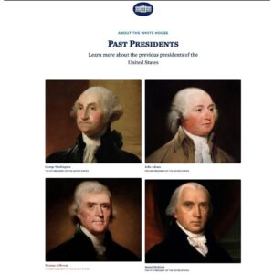 The WH site shows Biden as a former president  h/t
