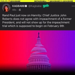 Read more about the article Rand Paul: Chief Justice John Roberts does not agree with impeachment of a forme