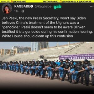 Read more about the article Jen Psaki, the new Press Secretary, won't say Biden believes China's treatment o