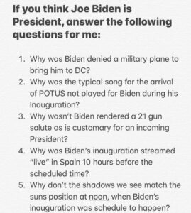 Read more about the article If you think Joe Biden is President, answer the following questions for me: