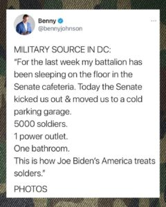 Read more about the article More on the status of our National Guard soldiers currently in DC.