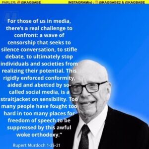 """Read more about the article The media mogul Rupert Murdoch denounced an """"awful woke orthodoxy� and declared,"""