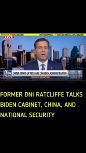 Read more about the article He talks about national security, Biden appeasement to China, Biden's cabinet, a