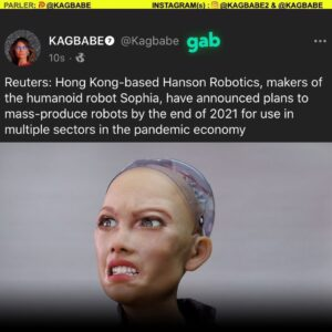 Read more about the article Hong Kong-based Hanson Robotics, plans to mass-produce robots by the end of 2021 for use in multiple sectors in the pandemic economy.