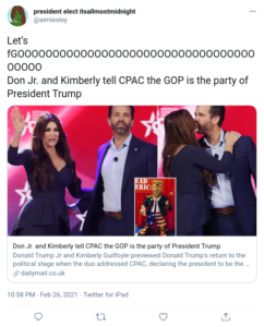 Don Jr. and Kimberly tell CPAC the GOP is the party of President Trump