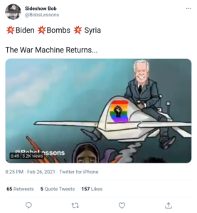 Read more about the article Biden Bombs  Syria – The War Machine Returns…