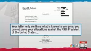 Read more about the article Your letter only confirms what is known to everyone; you cannot prove your allegations against the 45th President of the United States…