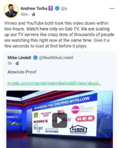 Vimeo and YouTube both took this video down within two hours. Watch here only on Gab TV.