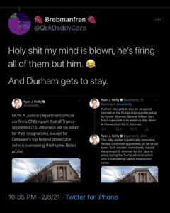The attorney investigating Joe Biden's son Hunter gets to stay and so does Durham.