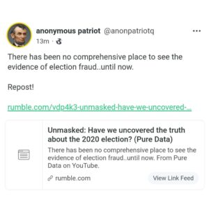 There has been no comprehensive place to see the evidence of election fraud..until now. Repost!