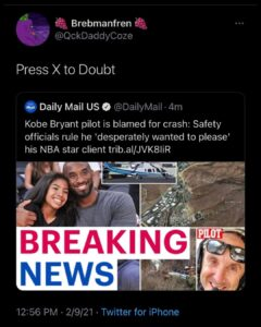 Coincidently this is in the headlines the same day we find out IMG models that just started representing Kamala Harris's stepdaughter, is also now representing Kobe Bryant's daughter.