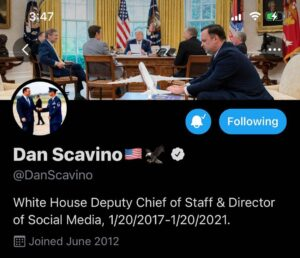 Read more about the article Scavino changed His twitter header.
