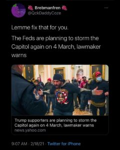 BREAKING: The Feds to storm the capital again.