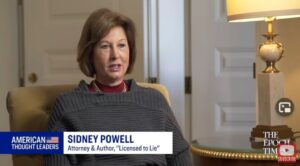 """""""Never Mistake My Quiet for Inaction"""" – Sidney Powell Speaks Out After SCOTUS Meetings Friday on Election Fraud –"""