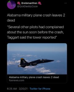 Do people believe all recent resignations, plane crashes, plane re_routes, EMS/E