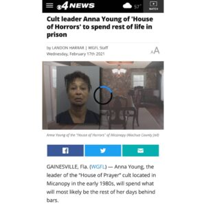"""CBS4's Landon Harrar reported, """"For almost 30 years Anna Young avoided any charg"""