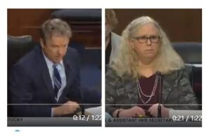 Senator Rand Paul DESTROYS Crazy Dr. Rachel Levine Over Hormone Therapy to 3-Year-Olds (Video)