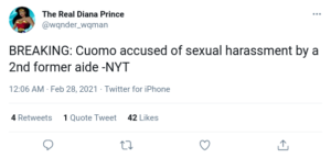 BREAKING: Cuomo accused of sexual harassment by a 2nd former aide -NYT
