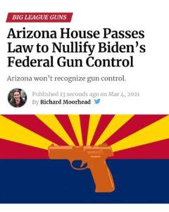 Read more about the article Arizona House Passes Law to Nullify Biden's Federal Gun ControlArizona won't r