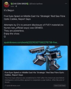 Read more about the article *FVEY enters the chat*  Relevant to upcoming 'DECLAS' events? SIGINT FVEY/Domest