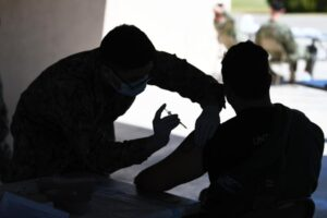 Getting shots in arms!@USNavy sailors from #NavalMedicalCenterSanDiego administ