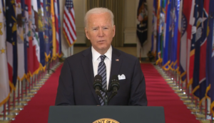 LIVE: President Biden gives first primetime address as commander-in-chief
