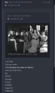 """""""Mike Pompeo's new tweet at 9:36am – drop ##936 [NWO] = Nazi World Order. The ve"""