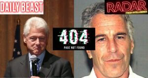 SILENCE: Media Outlets Won't Explain Why Damning Clinton-Epstein Article Was Qui