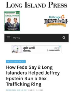 How Feds Say 2 Long Islanders Helped Jeffrey Epstein Run a Sex Trafficking Ring