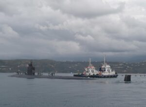 Read more about the article Pit stop! #SilentService#USSSanJuan departs Souda Bay, Greece after a brief st