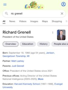Congrats to @RichardGrenell!