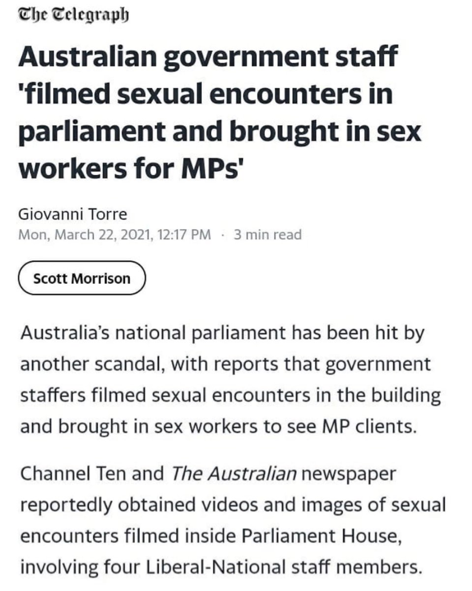 You are currently viewing Australian government staff filmed sexual encounters in parliament and brought i