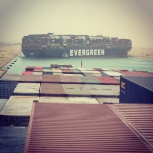 NEW – Suez Canal,  one of the largest shipping lanes on the planet, blocked with