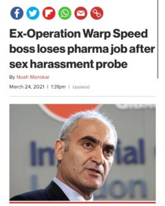 Read more about the article Ex-Operation Warp Speed boss loses pharma job after sex harassment probe