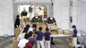 WATCH: First look inside facility for housing migrant children at the U.S. border