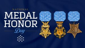 Today, we recognize the recipients of the nation's highest military decoration,