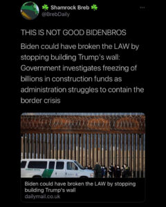 Read more about the article Biden could have broken the LAW by stopping building Trump's wall: Government investigates freezing of billions in construction funds administration struggles to contain the border crisis