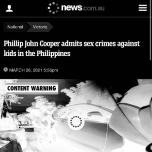 Read more about the article Phillip John Cooper admits sex crimes against kids in the Philippines  A Victori
