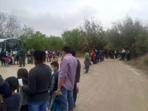 Rio Grande Valley Sector Border Patrol agents apprehended five large groups of m