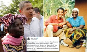Read more about the article Barack Obama pays tribute to his grandmother 'Mama Sarah' who has died in Kenya