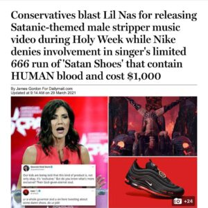 Read more about the article There's Miley wearing the shoes and captioning it with Satan on her insta Where