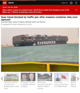 Read more about the article Okay so yes a sub can transit this Suez canal  Was this shipping container vesse