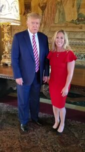 """Read more about the article .@mtgreenee and Donald J. Trump at Mar-a Lago yesterday.  """"He is the leader of t"""