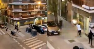 Gang Shootout on Streets of Madrid