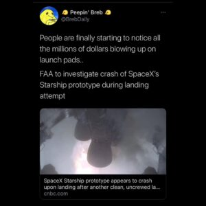 Read more about the article People are finally starting to notice all the millions of dollars blowing up on launch pads..