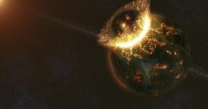 Scientists say giant pieces of ancient alien planet may be lodged under Earth's
