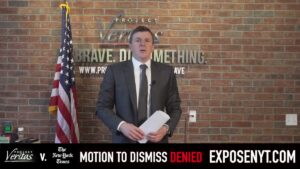 Read more about the article VIDEO: Breaking Down Project Veritas' BIG WIN Against The New York Times in Defa