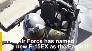 Read more about the article The newest aircraft in the #AirForce fleet has been christened the F-15EX Eagle