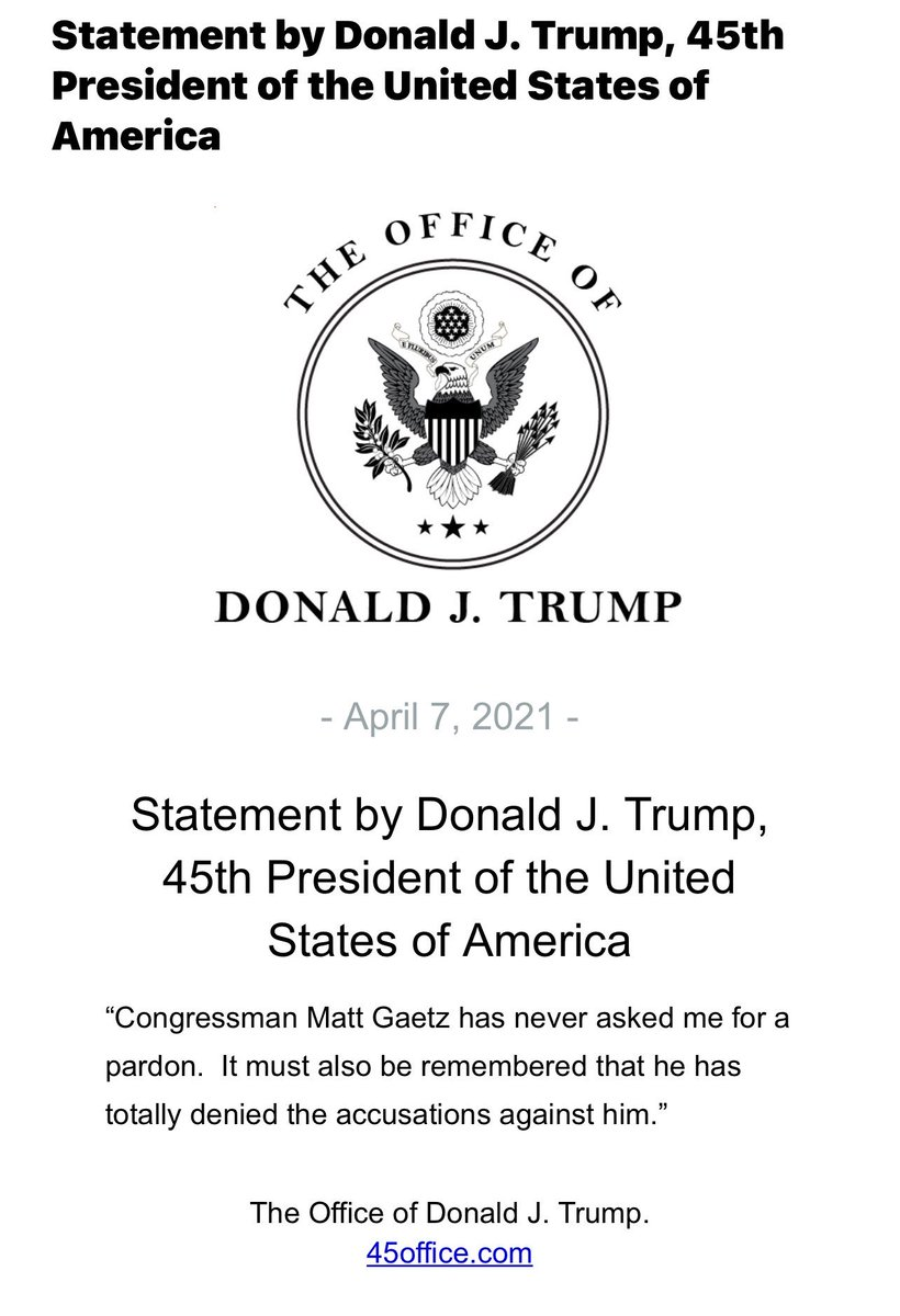 NEW: Statement from President Trump.